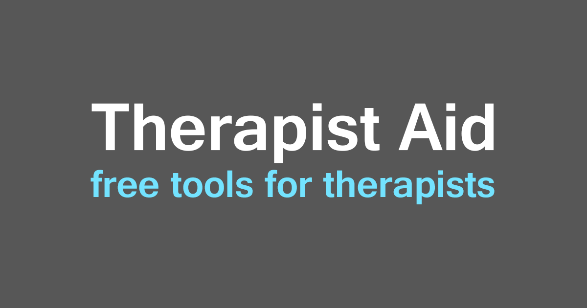 Therapist Aid Therapy Worksheets Tools And Handouts Counseling