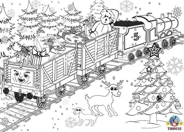 Printable Christmas Colouring Pages For Kids Thomas Winter Pictures Printable Christmas Coloring Pages Christmas Coloring Pages Coloring Books