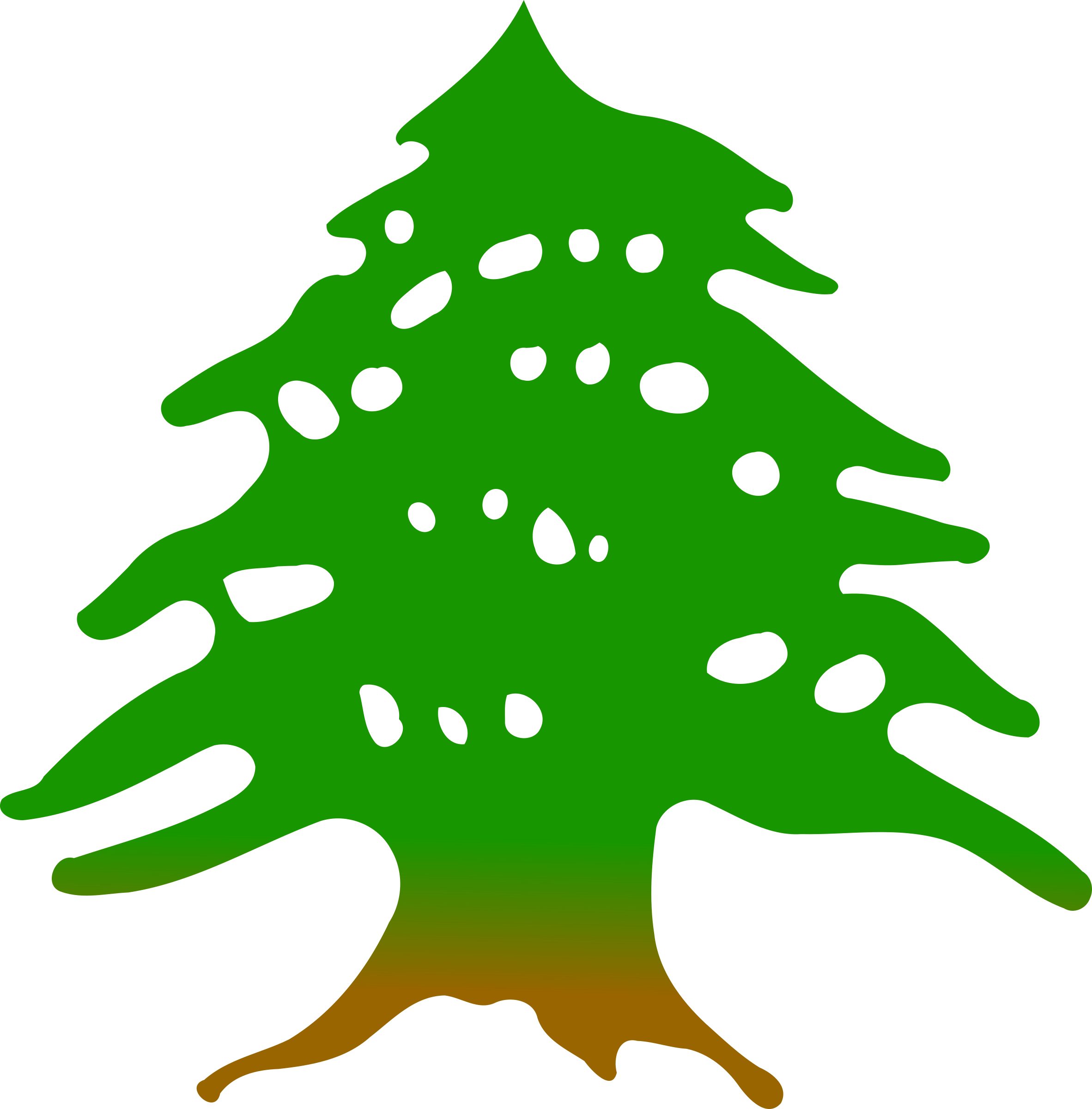 Cedar tree by @Firkin, Clipped from a public domain ...