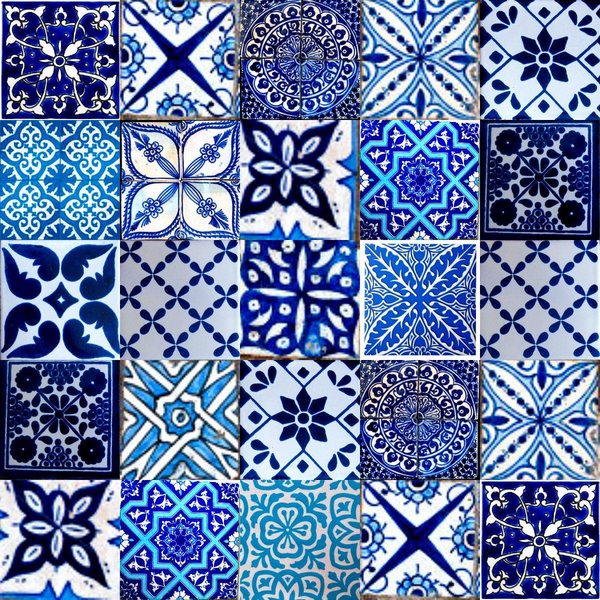 Salonfliesen für die wand marrakesh moroccan tiles blue  haus  pinterest  fliesen blau und