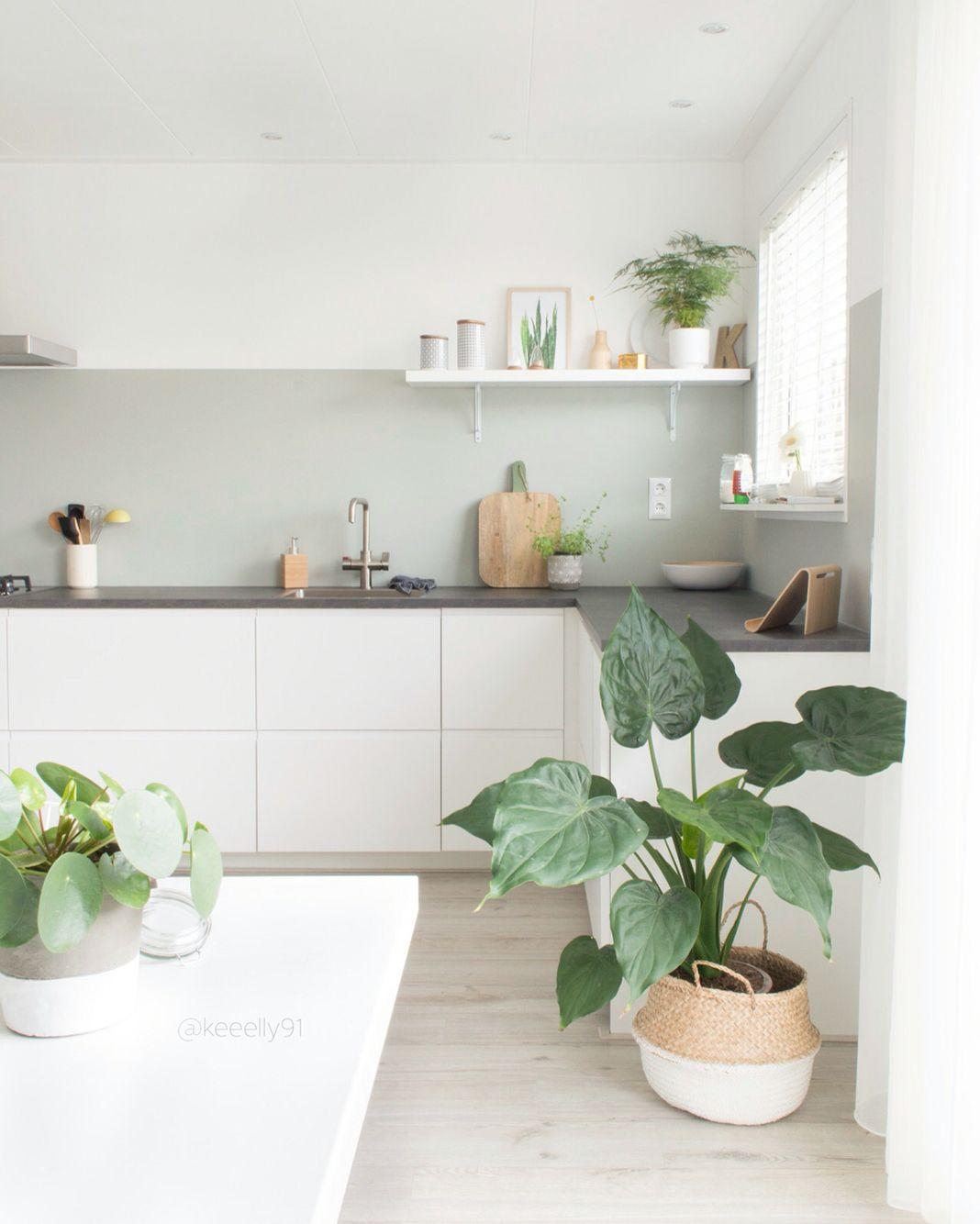 weiße Küche mit grauer Platte (IKEA) | Küche | Pinterest | Wandfarbe ...