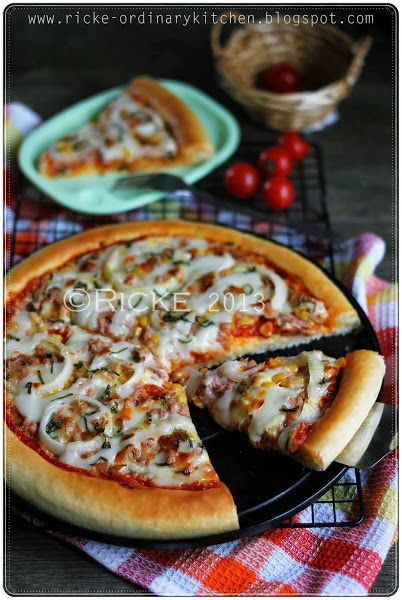 Just My Ordinary Kitchen Homemade Tuna Mayo Pizza Pizza Tuna Resep Tuna Resep