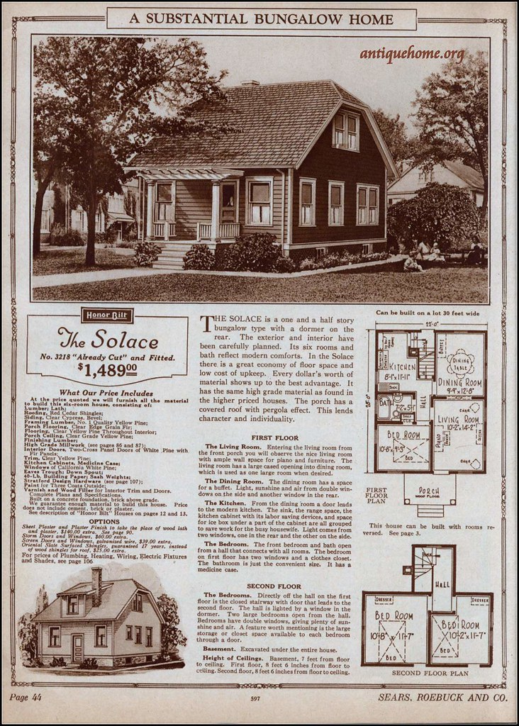 1925 Sears Modern Homes In 2020 Vintage House Plans Modern House Types Of Houses