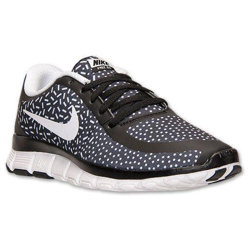 f9fd1762b2ef NIB Nike Free 5.0 V4 Print Sneaker Black White Polka Dot Sprinkles 5.5 -10   Nike  Sneaker