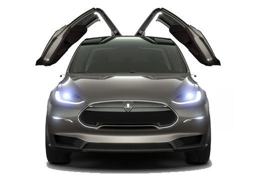 Tesla To Launch Suv With Gullwing Doors Prototype Model X Shown