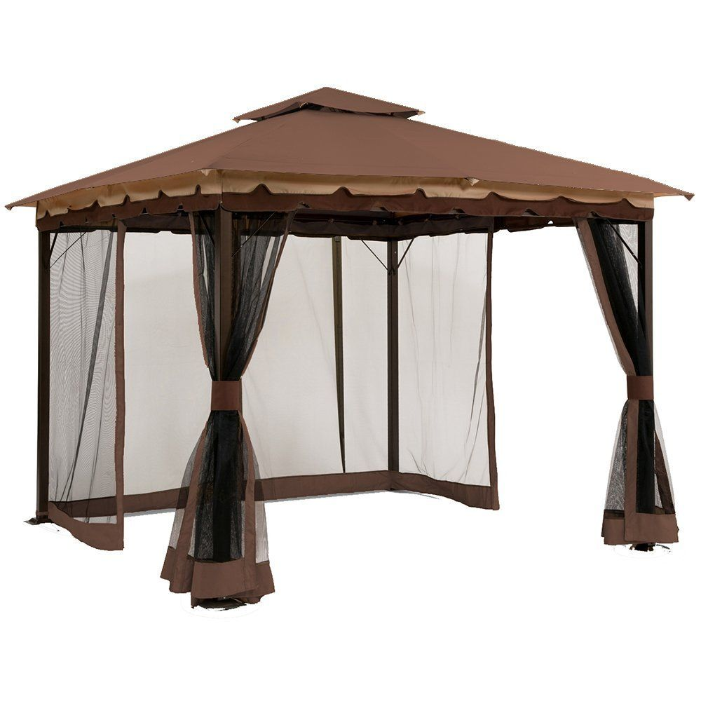 10x10 Ft Garden Treasures Gazebo Hg Replacement Canopy Gazebo Replacement Canopy Pergola Canopy Gazebo