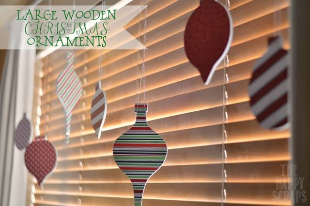 Large Wooden Christmas Ornaments at www.thehappyscraps.com