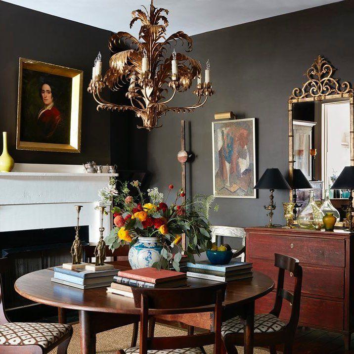 3234 likes 34 comments elle decor elledecor on instagram in the dining room of antiques dealer john popes charleston apartment the circa