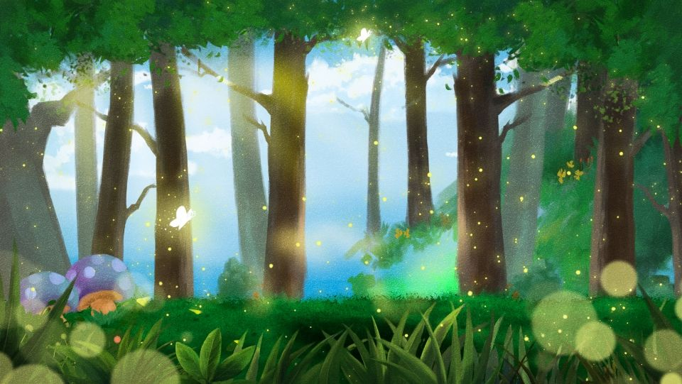 Sunlight Trees Forest Background Beautiful Technology Theme Park Red Background Images Pixel Art Background Backdrops Backgrounds