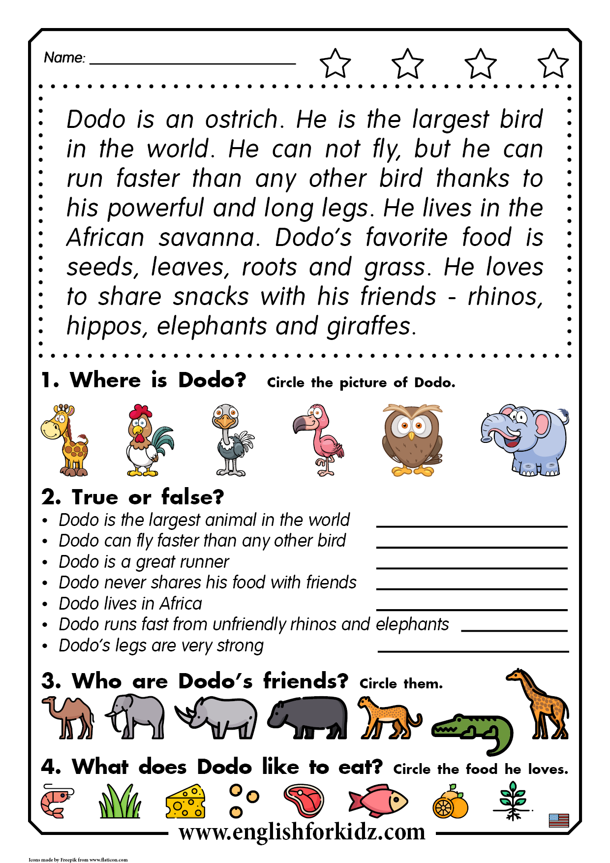 Reading comprehension passage   Reading comprehension worksheets [ 1754 x 1240 Pixel ]
