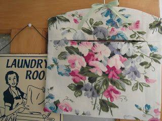 vintage fabric peg bag