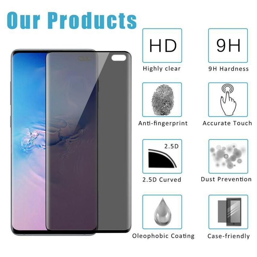 Anti Privacy Glass For Samsung Galaxy S10 Plus Screen Protector Tempered Glass For Galaxy S10 E S10plus S10e Curved Cove Samsung Galaxy Galaxy Screen Protector