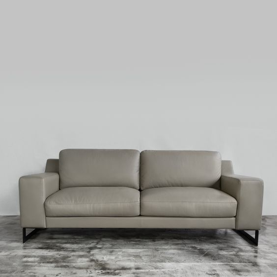 Yasmine Leather Sofa - All our sofas are built with a kiln-dried ...