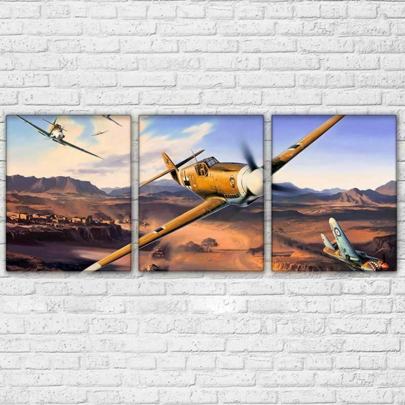Wall Art Hd Print Military Airplane Poster 3 Panel Jet Aircraft Vintage Plane Fashion Home Garden Homedcor Airplane Poster Vintage Planes Vintage Aircraft
