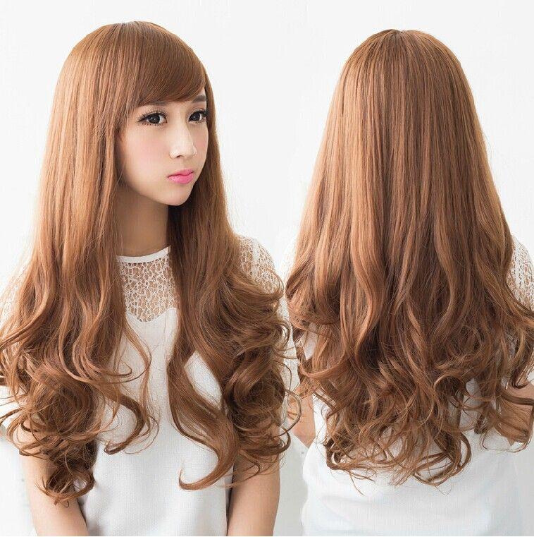 Korean Curly Hairstyles For Long Hair Easy Hairstyles Curly Hair Styles Long Hair Girl Curls For Long Hair