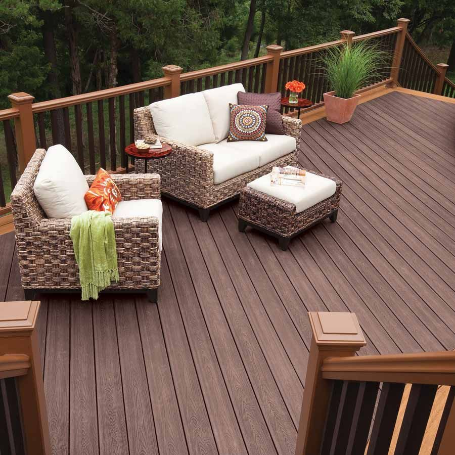 Deck Skirting Material Installation Skirting Around The Bottom Of Your Deck Allows You To Hide The S Building A Deck Composite Decking Outdoor Furniture Sets