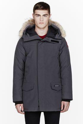 8f2e8e7b9b9 Canada Goose Charcoal Grey Down Fur Langford Parka for men | SSENSE ...