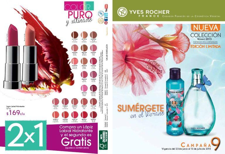 De Paty Cj. Empresaria Independiente YVES ROCHER-FLORMAR. Catálogo Yves Rocher Camaña 9, 2015. Vigencia del 23 de Junio al 13 de Julio de 2015.