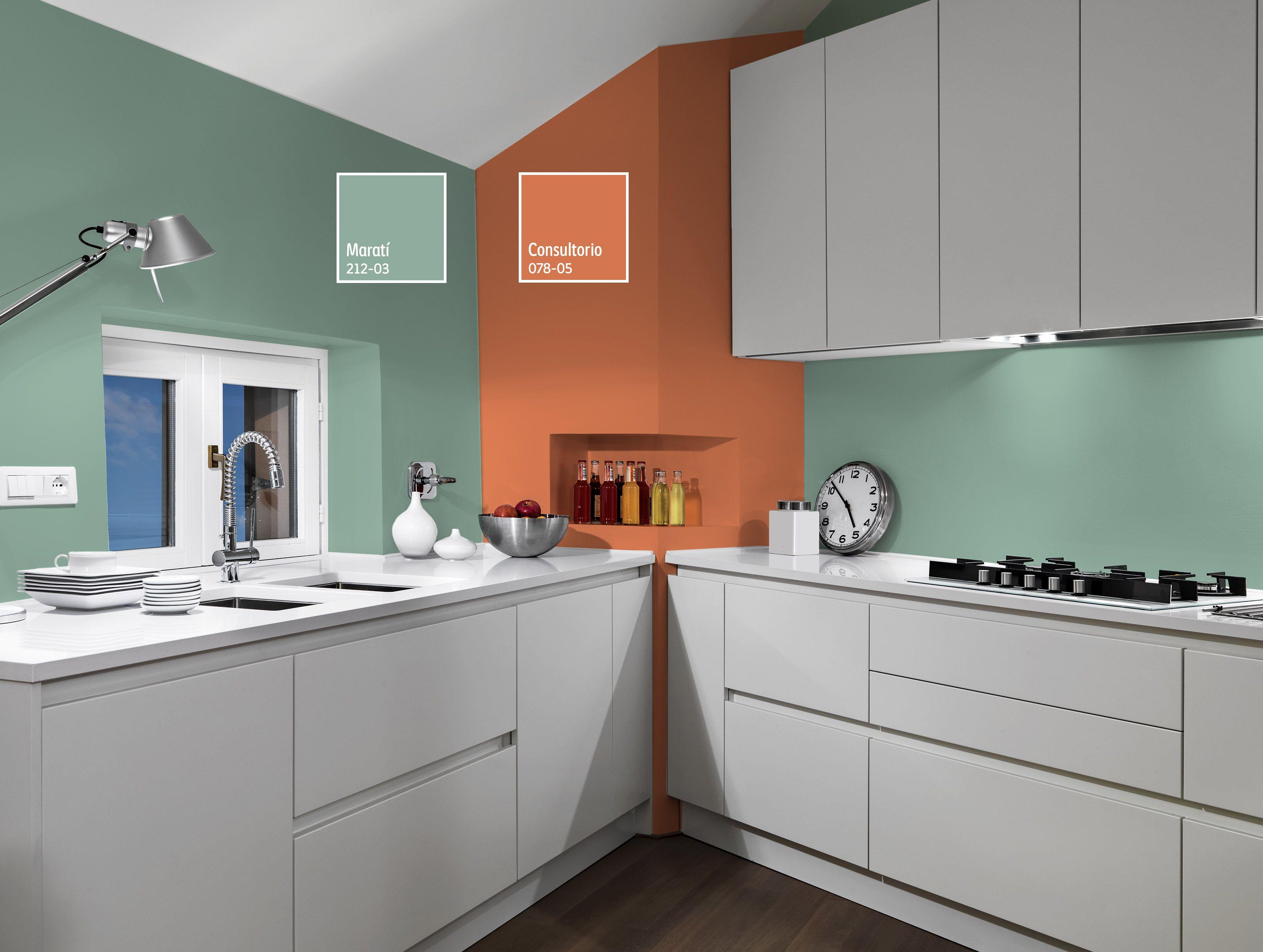 Una combinación llena de ingenio es ideal para tu cocina. ¡Compruébalo! | Pinturas  para cocinas, Colores para pintar cocinas, Colores de pintura para  dormitorios