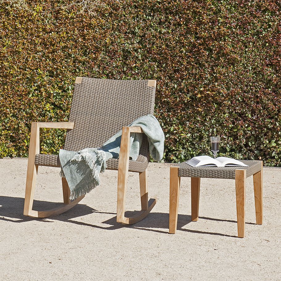 QUINTA TEAK U0026 WOVEN ROCKING CHAIR   JANUS Et Cie