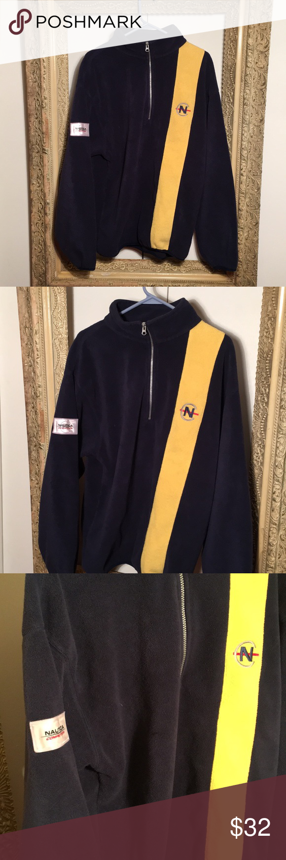Vintage nautica competition zip up fleece sweater my posh closet