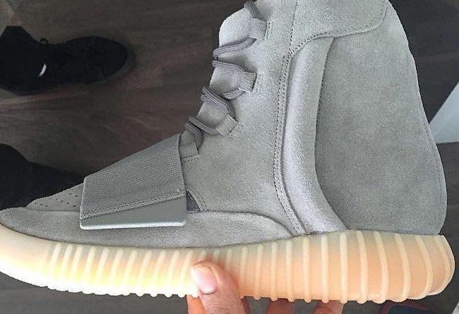 superior quality de8c9 94883 top Version Genuine Kanye West 750 Boost Light Grey/Gum Yzy ...