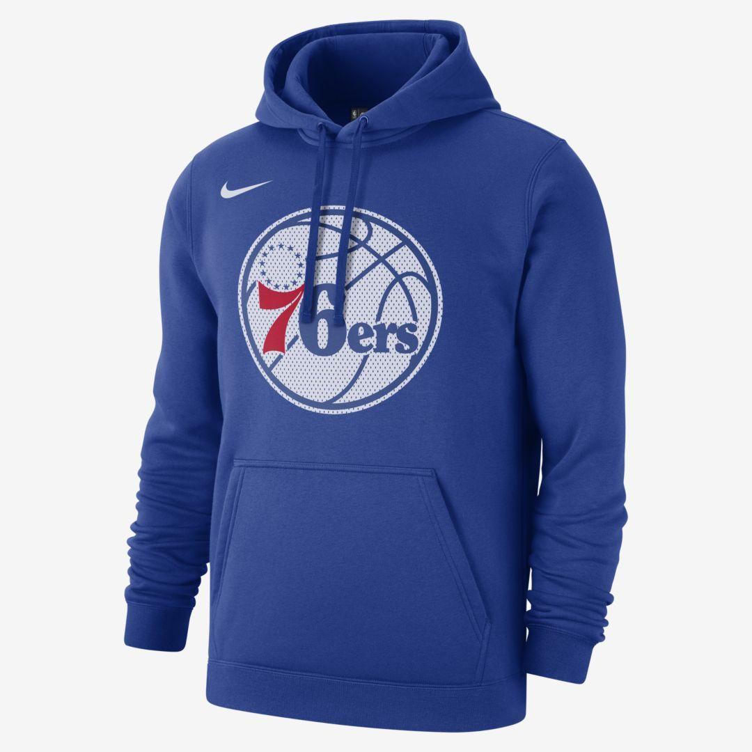 Philadelphia 76ers Nike Mens Nba Hoodie Rush Blue Source By Jumpman23 Sweatshirts Hoodie Sweatshirts Nike Men Hoodies [ 1080 x 1080 Pixel ]
