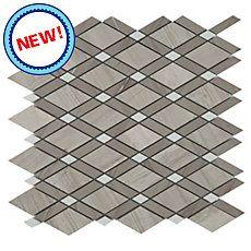 New! Valentino Gray Diamond Marble Mosaic