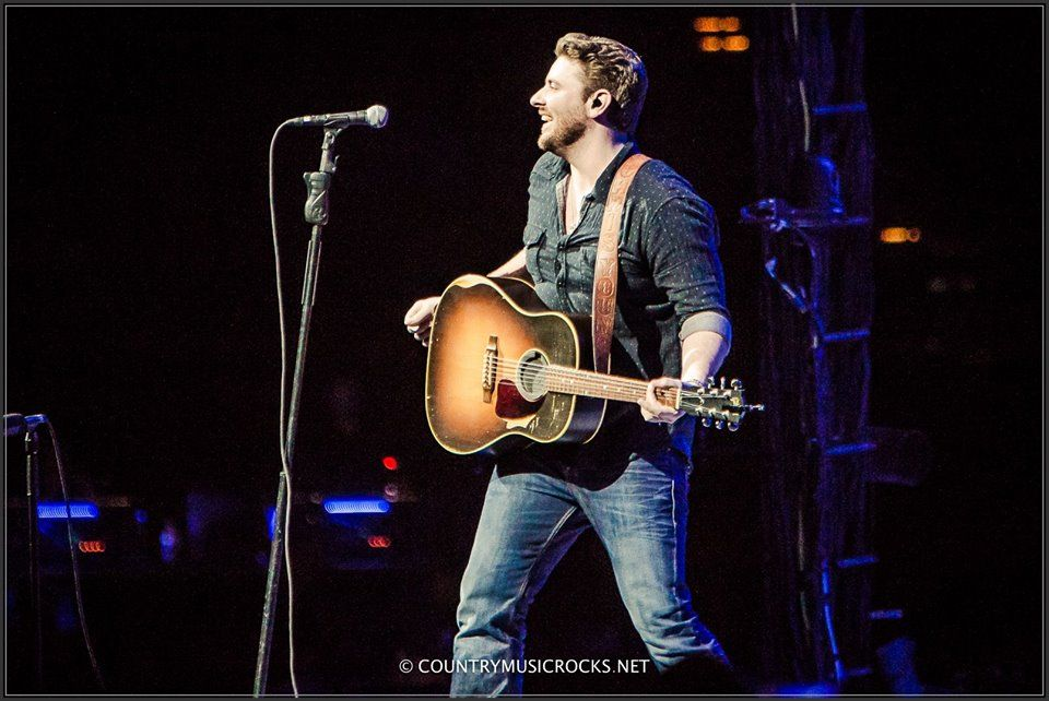 Chris opening up for George Strait in Portland, OR! Photo creds: Country Music Rocks