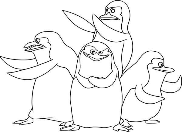 Penguins Of Madagascar Coloring Pages Penguin Coloring Pages