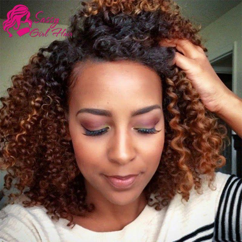 Malaysian Curly Hair Ombre Human Hair Weave Two Tone 1b 30 Virgin