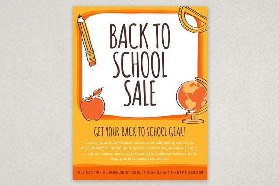 Fun Back To School Flyer Template An Eye Catching Design With Cute