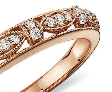 Rose gold: Beautiful and not over the board.