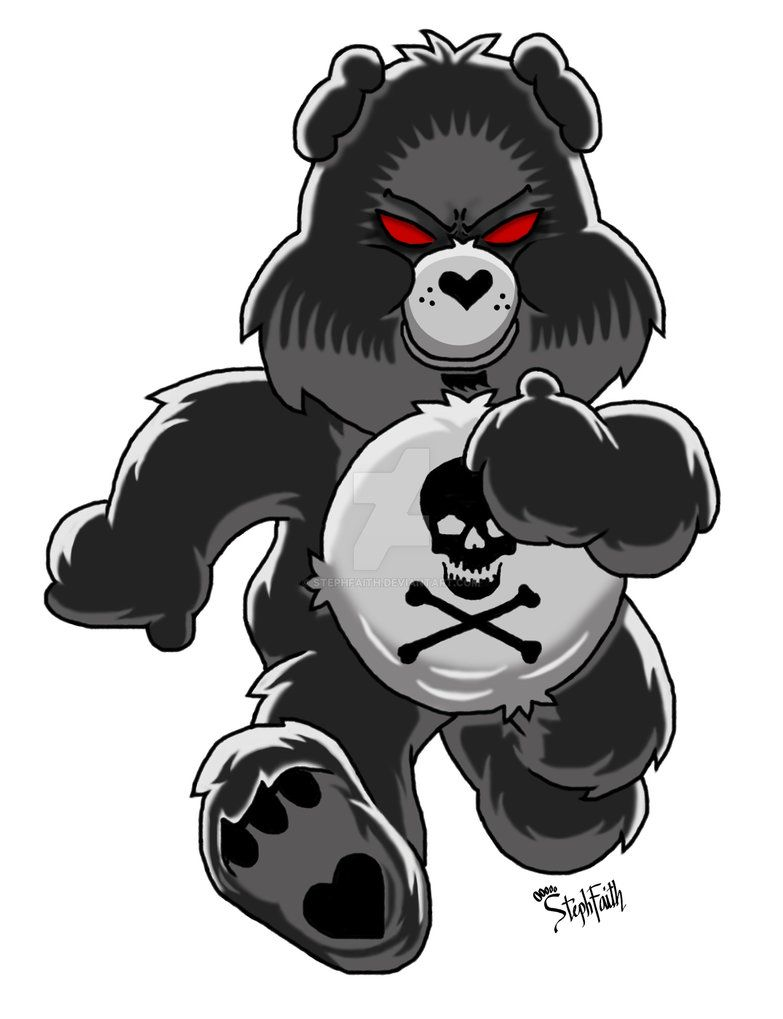 Care Bears Gets Toxic Evil Teddy Bear Bear Pictures Bear Tattoos