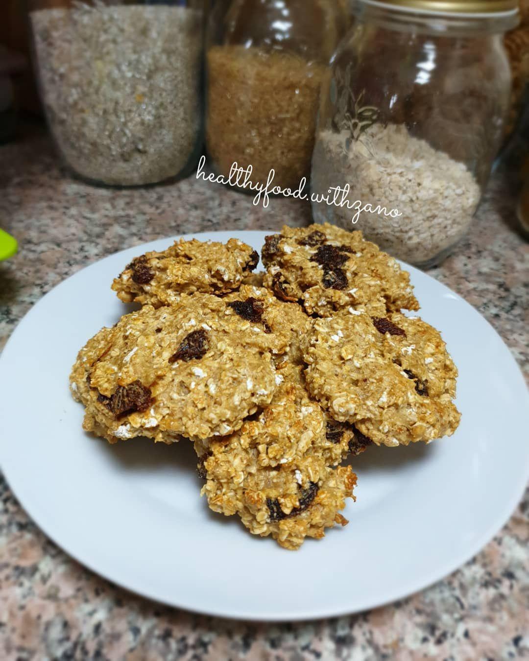 Cookies healthy aux flacons davoine et la farine complète sans sucre et sans beurre  La recette sur la prochaine publication