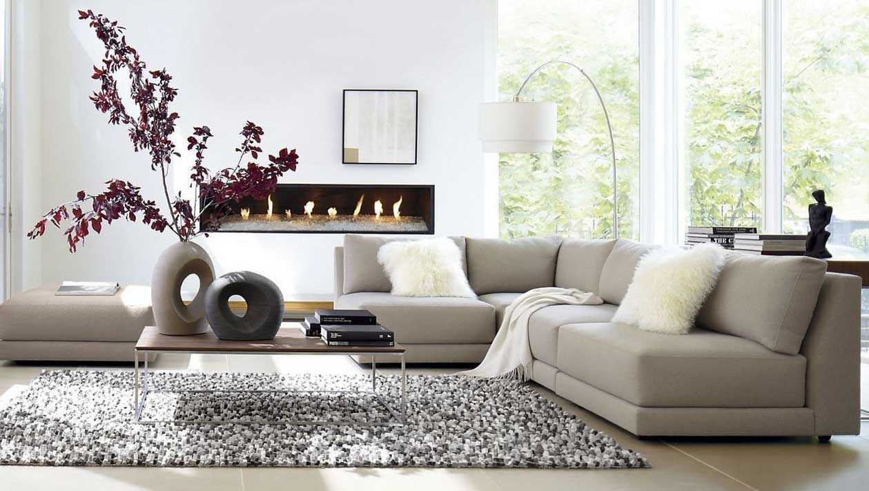 Room · Living Room Sectional With Beige ...