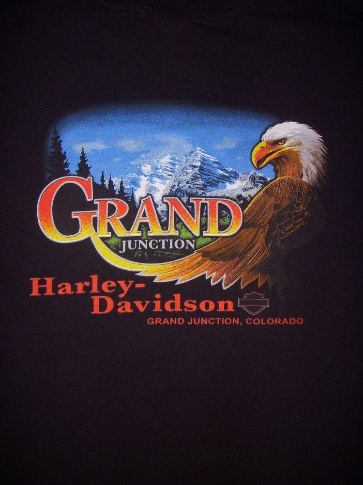 Harley davidson grand junction colorado black t shirt men