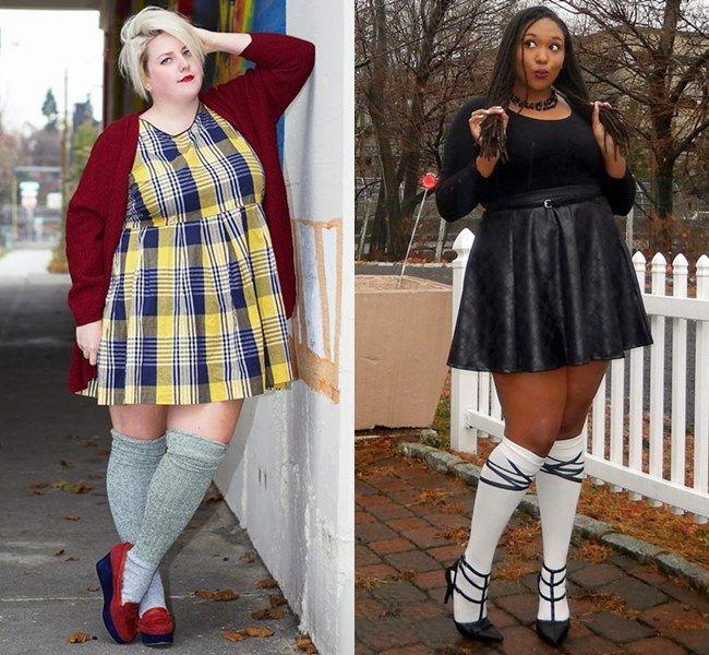 plus size winter knee highs fashion look caterpillar