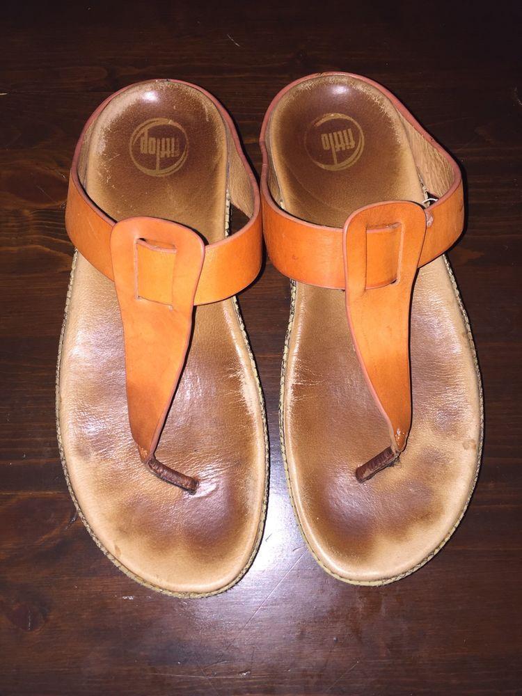 b18cef418 FitFlop Ibiza Camel Orange Sandals Women s Size 9 Style 401-316 ...