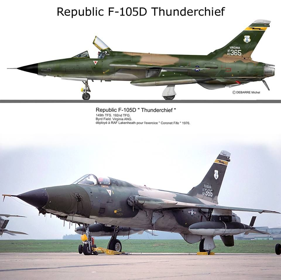 F 105d Thuderchief With Images Us Military Aircraft Military