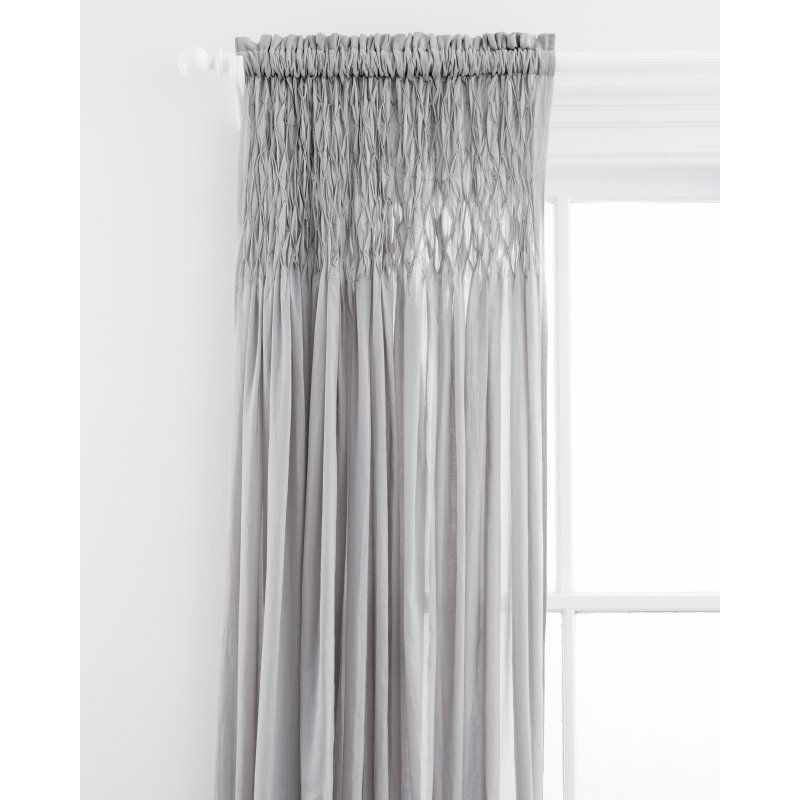 Heirloom Voile Curtain Panel By Pine Cone Hill Gray Pc1080 Pnl4296 Sheer Drapery Panels Voile Curtains Grey Curtains