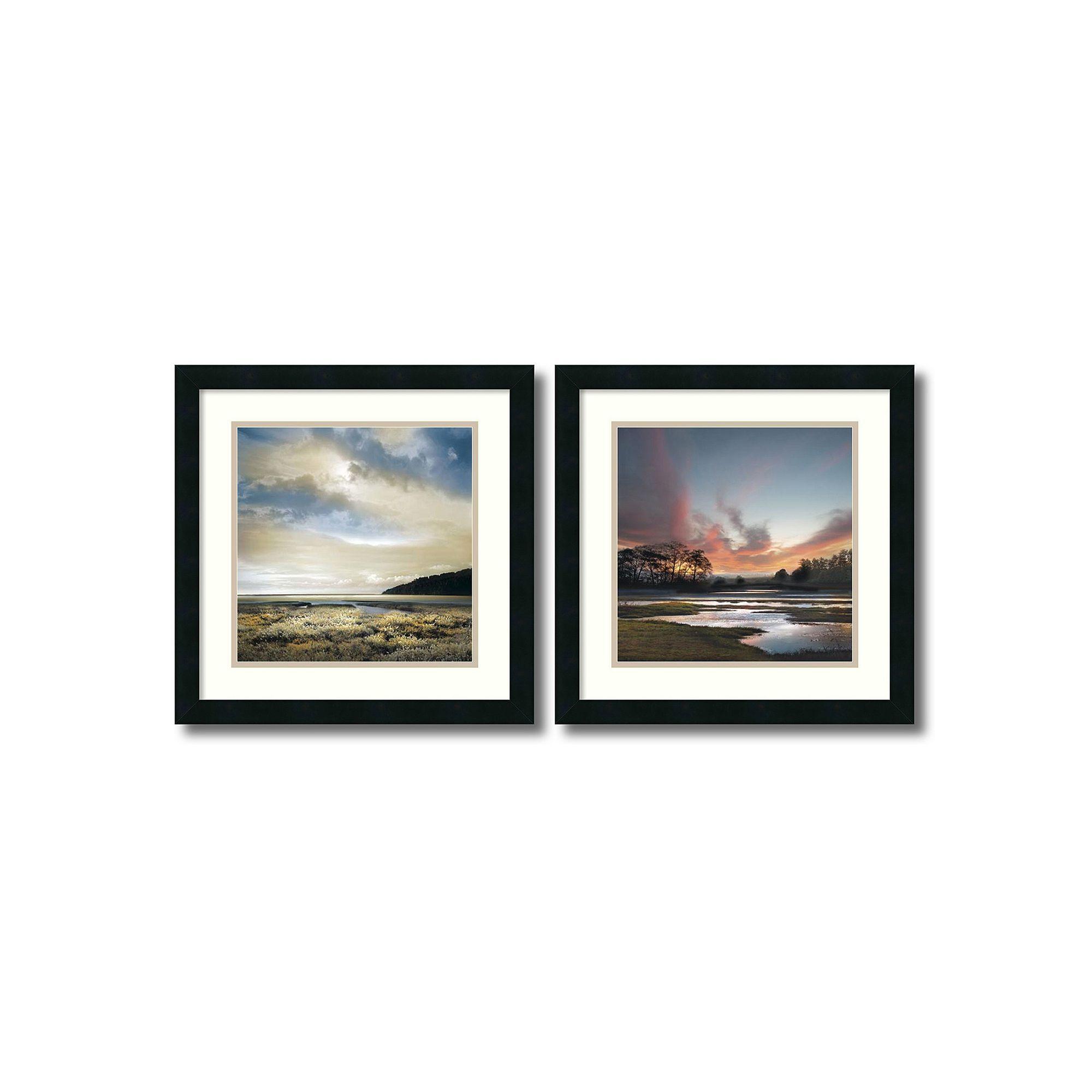 Beyond the Sun\'\' Beach 2-piece Framed Wall Art Set, Black | Wall art ...