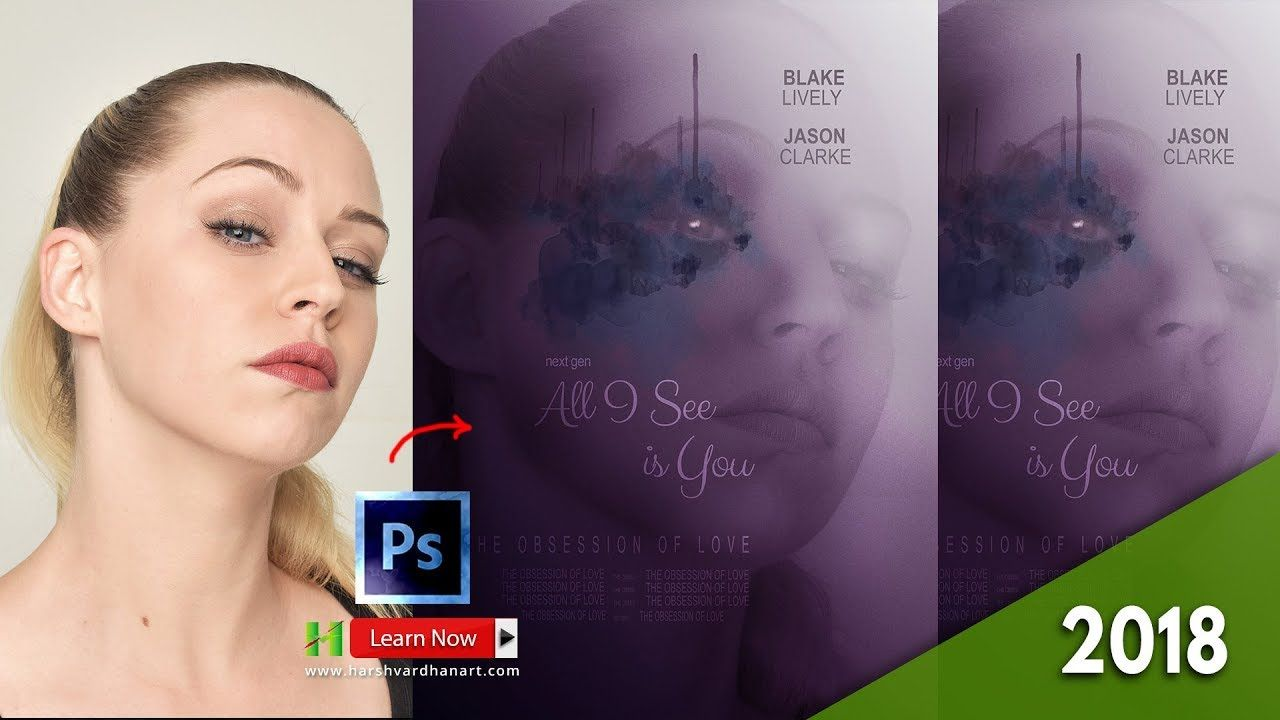 Movie poster in photoshop tutorial all i see is you movie poster movie poster in photoshop tutorial all i see is you movie poster design baditri Images