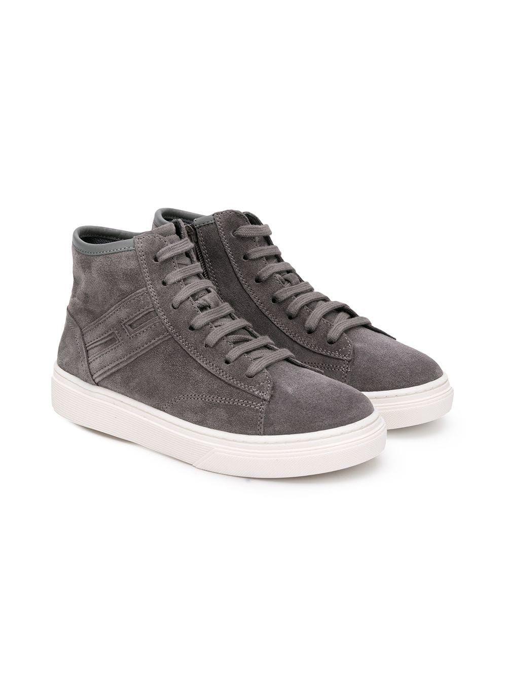 c5889e7cf8d0d Shop online for Hogan Kids J340 sneakers - Grey by Hogan Kids   Buy Hogan  Kids