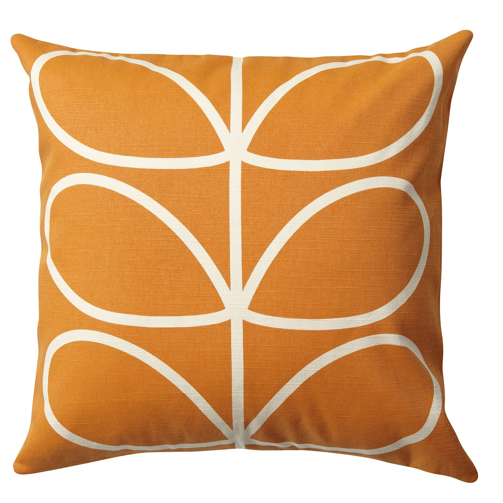 Orla kiely linear stem cushion with zip to close this classic