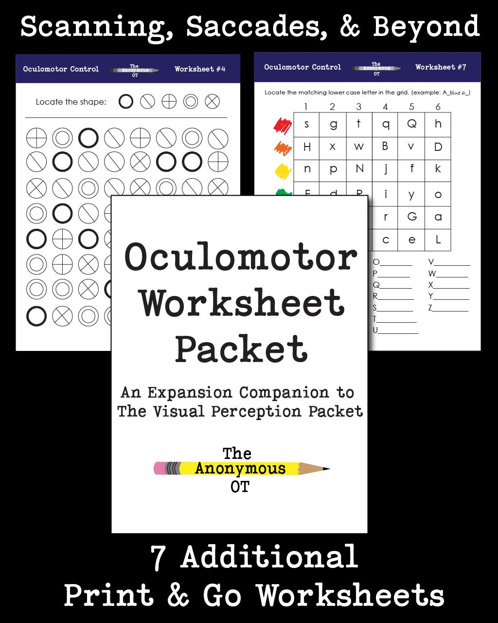 Oculomotor Worksheet Packet