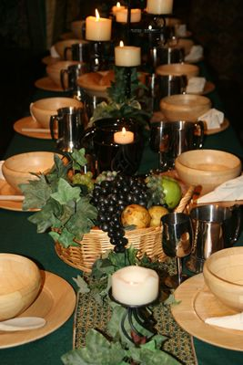 Medieval banquet with fruit bing images come let us feast medieval dining and decoration packages junglespirit Gallery