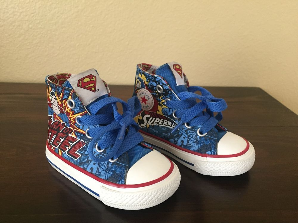 6a14f8084d3a converse all star chuck taylor toddler superman boys size 4 toddler shoes  from  16.0