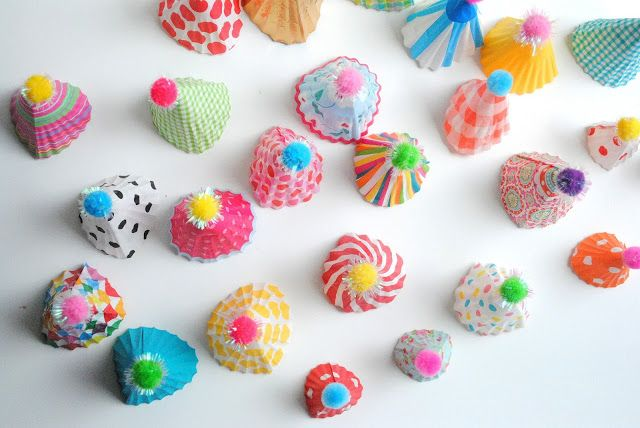 a pretty cool life.: party diy: party hat cupcake toppers