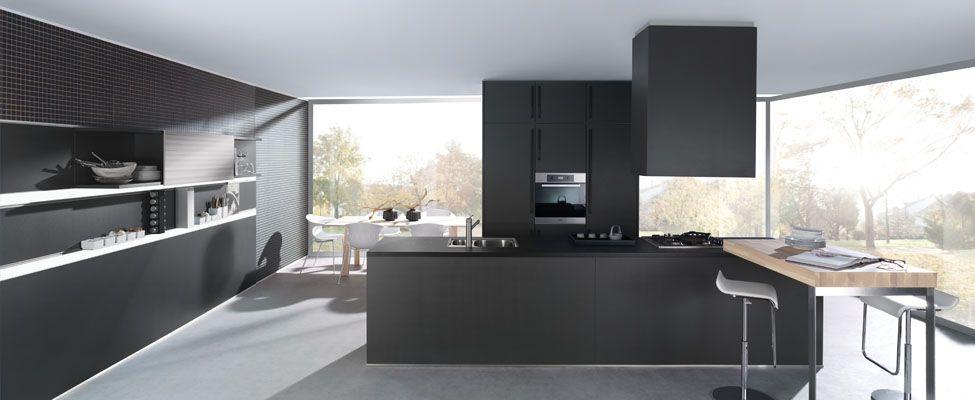 Bruynzeel optima accent i stoere keuken in zwarte lak keukens pinterest lak keuken en - Meubilair zwarte keuken lak ...